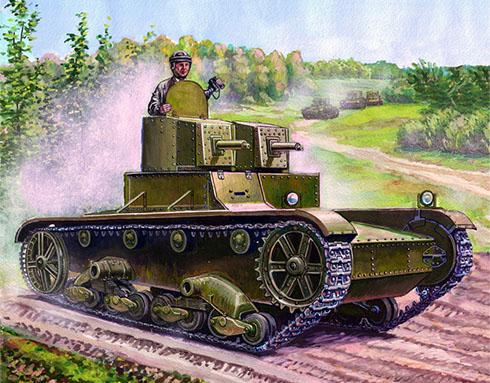 Vickers 6-ton. Mark E modelo A del ejército Polaco, Varsóvia, Polonia1937.