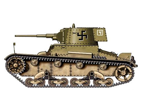 Vickers 6-ton. Mark E modelo B Finlandés, 1ª Compañía, 1er. Batallón de tanques, Frente del Este, 1941.