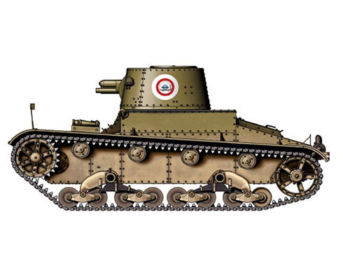 Vickers 6-ton. Mark E modelo B, Siam, 1940-1941.