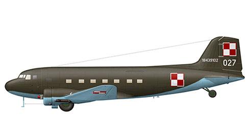 Lisunov Il-2 Cab, 13º Regimiento de transporte, Fuerza Aérea Polaca, Cracovia, 1975.