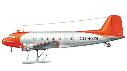 Lisunov Li-2 Cab, de las aerolineas Aviación Polar, Unión Soviética, 1962.