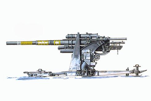 Cañón 88 mm Flak 18, unidad sin identificar, Rusia, Frente del Este, 1941-1942.