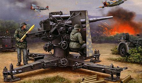 Cañón 88 mm Flak 36.