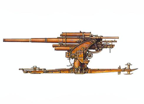 Cañón Flak 18 de 88 mm destinado en Sicilica, unidad sin identificar, verano de 1943.