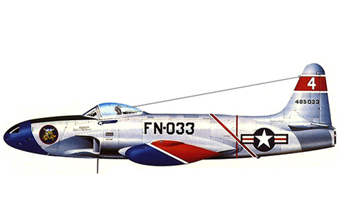 Lockheed F-80 A Shooting Star, 61º Escuadrón de cazas, USAF, Selfridge Field, Michigan, 1948.