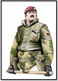 Cabo Regimiento paracaidista, 2º Batallón, Ulster, 1981.