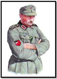 Jefe de sección de la Legión Georgiana, 1942-1943.