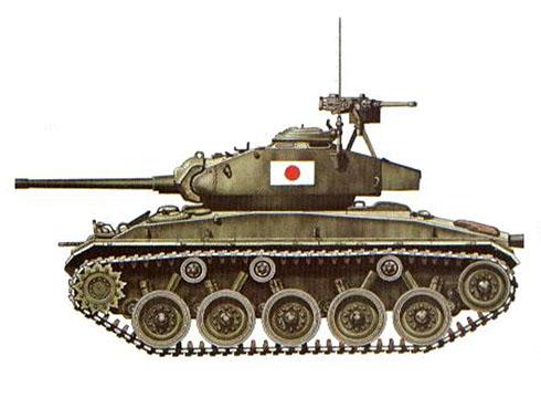 M24 Chaffe de la 6ª División, Fuerzas de autodefensa del Japón.
