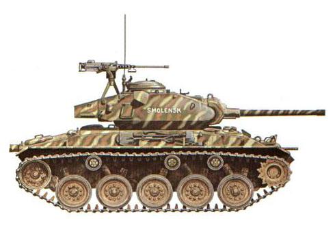 M24 Chaffee, 1er. Regimiento de Cazadores, Ejército Francés, Dien Bien Phu, 1954.