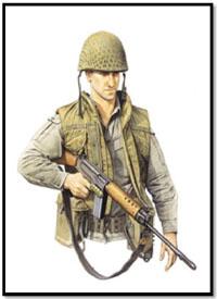 Soldado del 8º Real Regimiento Australiano, Vietnam, 1970.