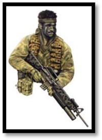 Soldado patrulla, 2º escuadrón SASR, Vietnam, 1971. con marco