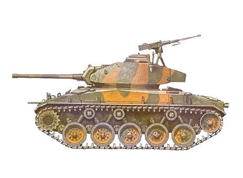 ARVN M24 Chaffee, 3er. Escuadrón de reconocimiento, Tan Son Hnut, 1971.