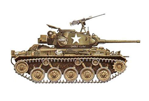 M24 Chaffe ''Eagle Claw'', 3ª Compañía de Reconocimiento, 3ª División de Infantería, Korea, 1951.