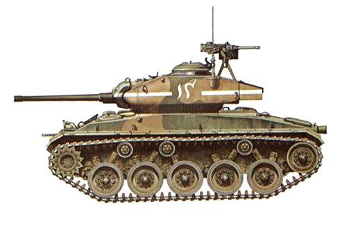 M24 Chaffe perteneciente al 29º Regimiento de Caballería del Ejército Pakistaní, Guerra Indo-Pakistaní, 1971.