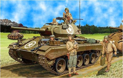 M24 Chaffee de los Estados Unidos, Noreste de Europa, 1945.