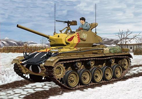 Tanque Ligero M24 Chaffee de los Estados Unidos, Guerra de Corea, 1951.