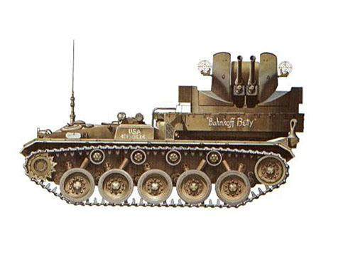 Un M19 perteneciente a 46º Batallón de Artillería Antiaérea, Compañía B, OTAN, Alemania, 1954.