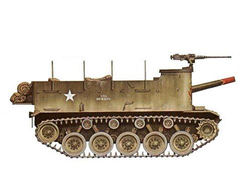 Un M37 HMC del 58º Batallón de artillería de campo, 3ª División de Infantería, Río Imjin, Corea, 1951.