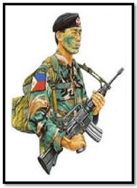 Soldado Filipino, Fuerzas Especiales, NCO, 1987.