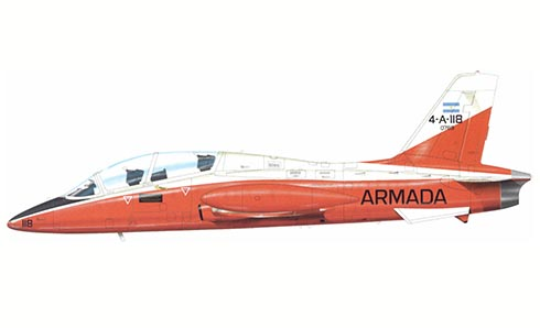 Aermacchi MB-339 A, Comando de Aviacion Naval Argentina, Armada Argentina, Base Naval de Punta Indio, 1981.