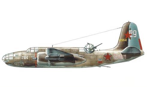 Douglas A-20 B DL Havoc, Fuerza Aérea Rusa, 1943.