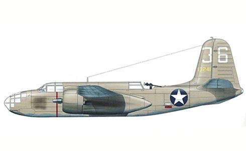 Douglas A-20 B Havoc, 47º Grupo de Bombarderos, Souk-el-Arab, Túnez, 1943.