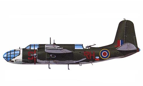 Douglas A-20 Boston Mk.III A, 88º Escuadrón de la RAF, Base aérea de Hartford Bridge, Reino Unido, 1944.