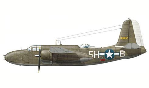 Douglas A-20 G Havoc, 668º Escuadrón de Bombarderos, 416º Grupo de Bombarderos, USAAF, Wethersfield, Reino Unido, Febrero de 1944.