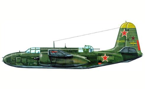 Douglas A-20 G Havoc de la Fuerza Aérea Soviética, Tula, Rusia, 1944.