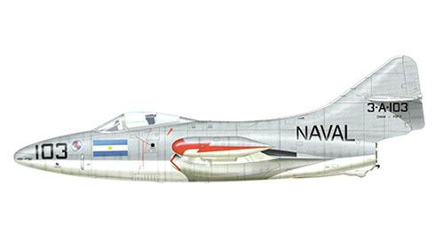 Grumman F-9 F 2 Panther, Marina Argentina, Base Naval Punta Indio, 1960.