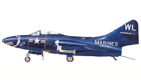Grumman F-9 F 2 Panther, VF-311, Cuerpo de Marines de los EE.UU, Corea.