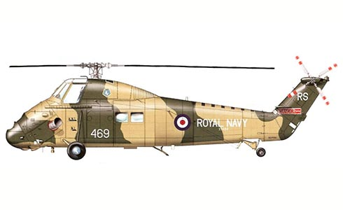 Westland Wessex HU.5, 847º Escuadrón, Royal Navy, 1969.