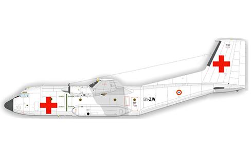 Transall C-160, del 61º Escuadrón de Transporte de la Armée de l´Air, este avión fue pintado para una misión de las ONU en Sudán, 1985.