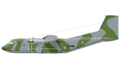 Transall C-160 R, 3-61 Escuadrón de Transporte Táctico ''Poitou'',  Base de Orléans-Bricy, 1980.