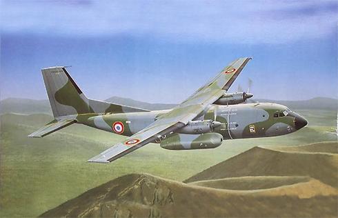 Un Transall C-160 D, del  1-61 Escuadrón de Transporte Táctico, Armée de l'Air.