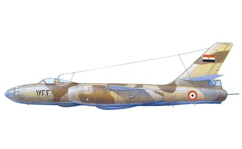 Ilyushin Il-28 Beagle con camuflaje desértico, Fuerza Aérea de Egipto, 1969.