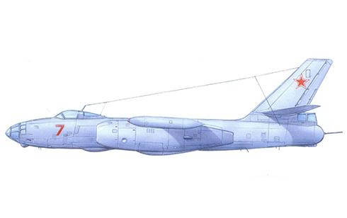 Ilyushin Il-28 T Beagle perteneciente al 567º Regimiento Bombardero-Torpedero de la Marina Soviética.