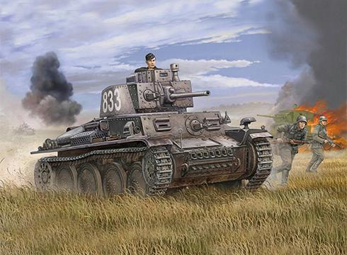 Panzerkampfwagen 38 (t) Ausf. E, en algún lugar del frente del Este, 1943.