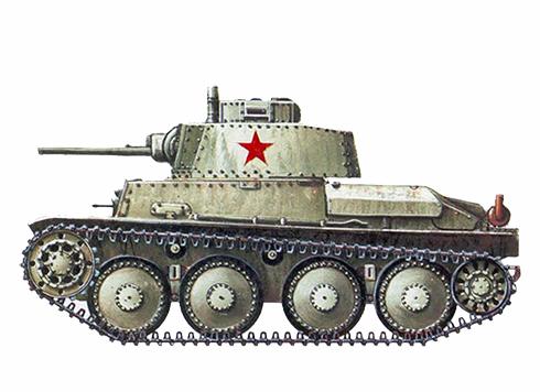 Panzerkampfwagen 38 (t) capturado por el Ejército Rojo, URSS, 1942.