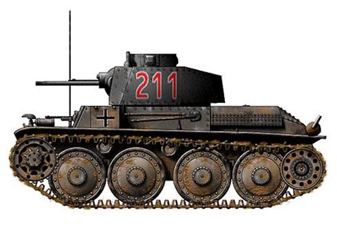 Panzerkampfwagen 38(t) Ausf A, 2ª Compañía, 7ª División Panzer, Francia, 1940.
