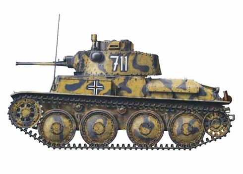 Panzerkampfwagen 38(t) Ausf E-F, 204º Regimiento Panzer, 22ª División Panzer, Crimea, primavera de 1942.