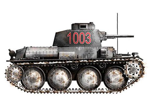 Panzerkampfwagen 38(t) Ausf E-F, 25º Regimiento Panzer, 7ª División Panzer, Rusia, invierno de 1942.