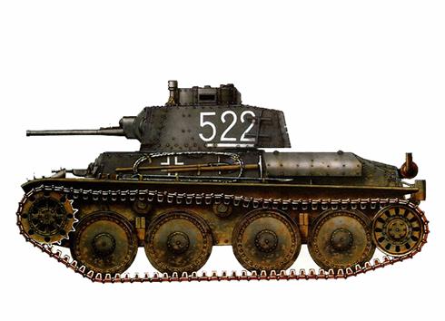 Panzerkampfwagen 38(t) Ausf G, 22ª División Panzer, Frente del Este, 1942.