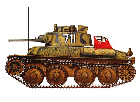 Pz. Kpfw. 38(t)., 22ª División Panzer, Crimea, primavera de 1942.