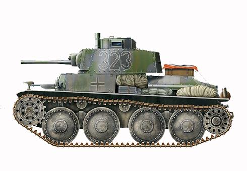 Pz. Kpfw. 38t Ausf. C, 25º Regimiento Panzer, 7ª División Panzer, Frente del Este, Septiembre de 1941.