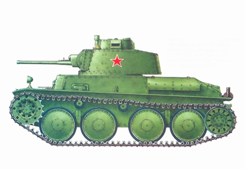 Pzkpfw 38(t), tanque capturado por los soviéticos, 20º Ejército, Frente del Este, 1942.