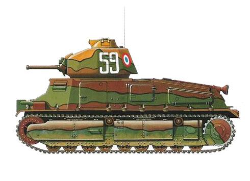 Somua S-35, 2º de Coraceros, 3ª División Mecanizada Ligera, Francia, 1940.