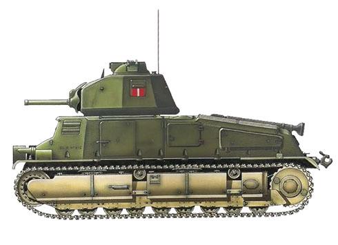 Somua S-35 capturado por los alemanes y cedido al Battaglione CC del 131º Reggimento Corazzato, Regio Esercito Italiano, Cerdeña, 1942-1943.
