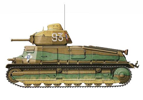 Somua S-35 del 2º Batallón de Caballería, Bélgica, 1940.
