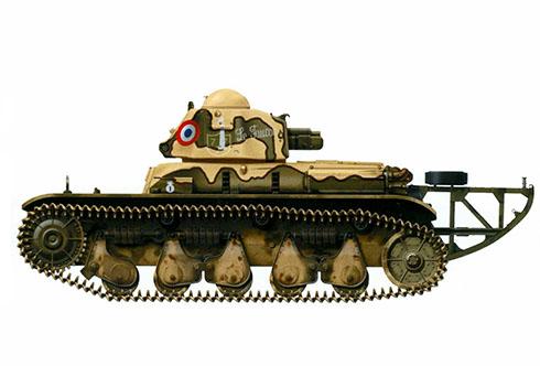 Renault R35 ''Le Faucon'', 21º BCC (Batallón de Carros de Combate, Francia, 1940.